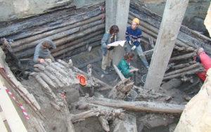 Раскопки на Охтинском мысе 2009 год