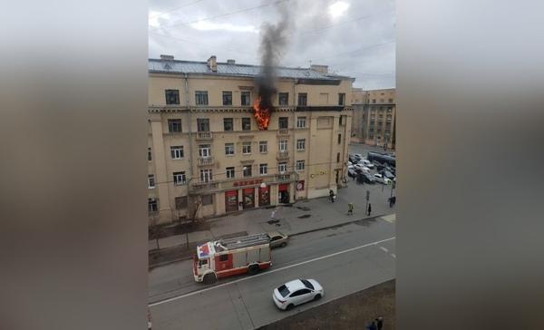 Пожар на Заневском проспекте
