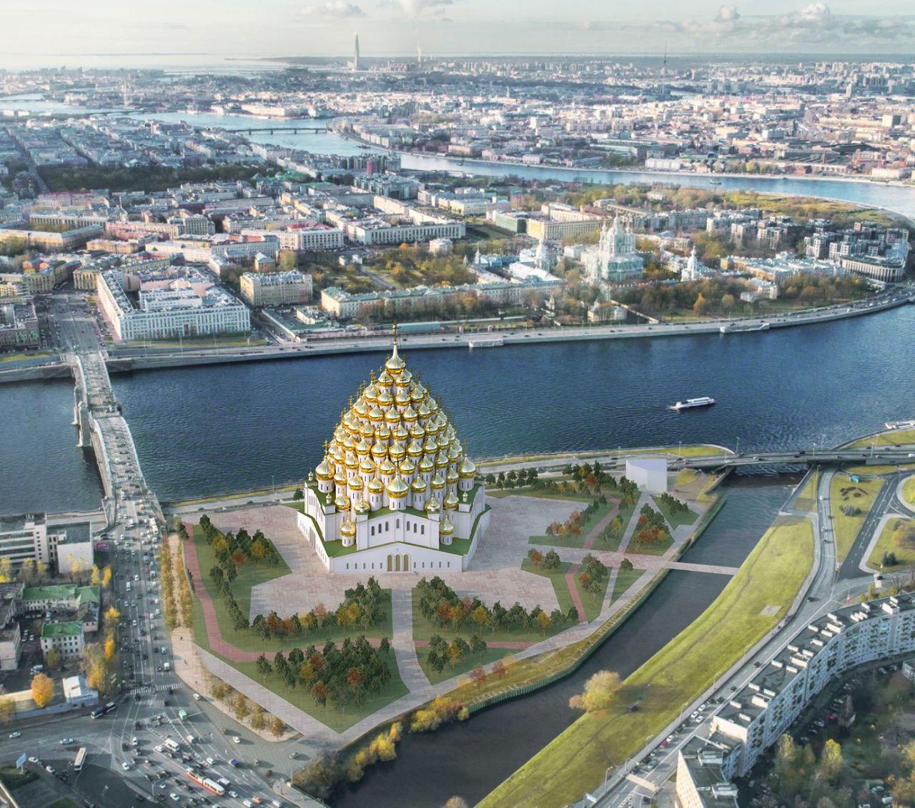 Архитекторы предлагают усугубить сакральность Охтинского мыса храмом с 320 куполами